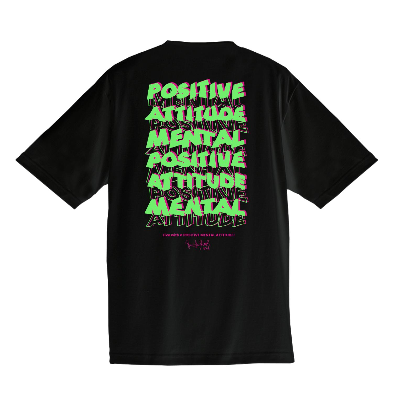 FUMIO ITO/Live with a Positive Mental Attitude! T-shirt(ブラック)